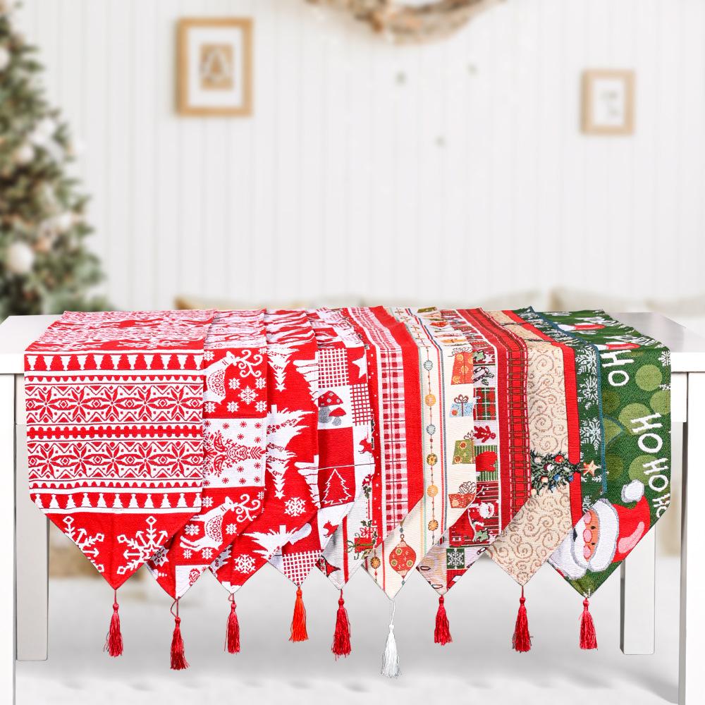 wholesale nuevo corredor de mesa de algodón de poliéster decoración navideña  NHHB394480
