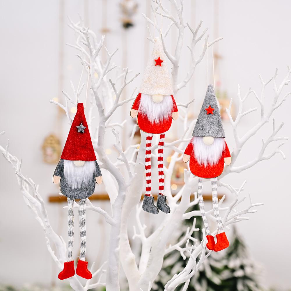 wholesale Navidad Rudolph piernas colgantes muñeca colgante decoración  NHHB394483