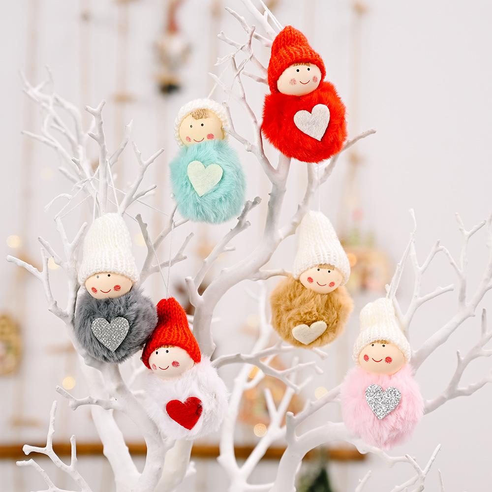 wholesale lindo mini muñeco de nieve colgante de bola de felpa decoración navideña  NHHB394486