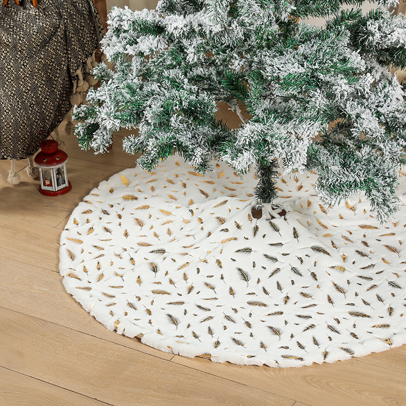 wholesale Árbol de Navidad adornos de plumas de plata dorada  NHHB394495