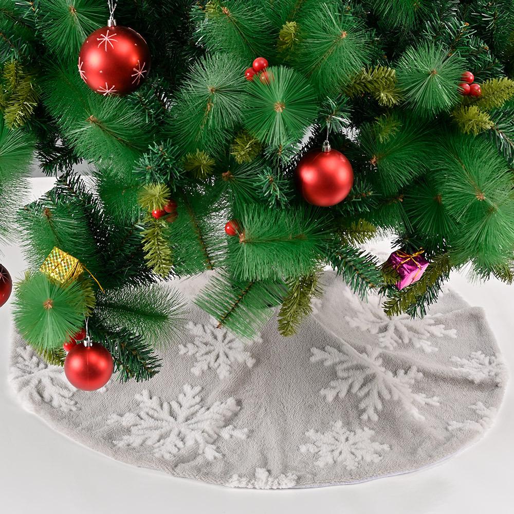 wholesale falda de árbol de copo de nieve jacquard decoración navideña  NHHB394498