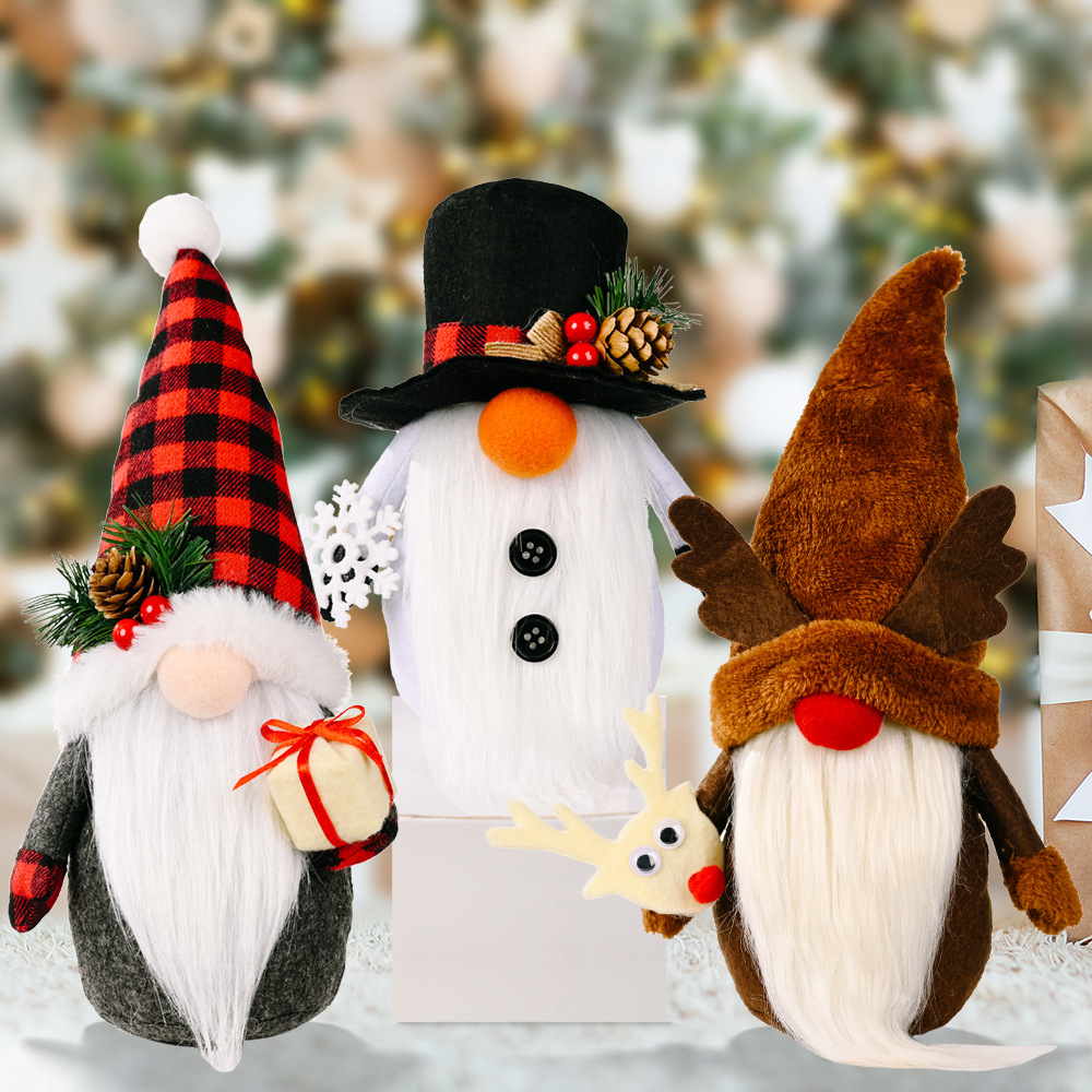 wholesale Adornos de muñeco de Rudolph de Navidad decoración de la ventana del hogar  NHHB394500