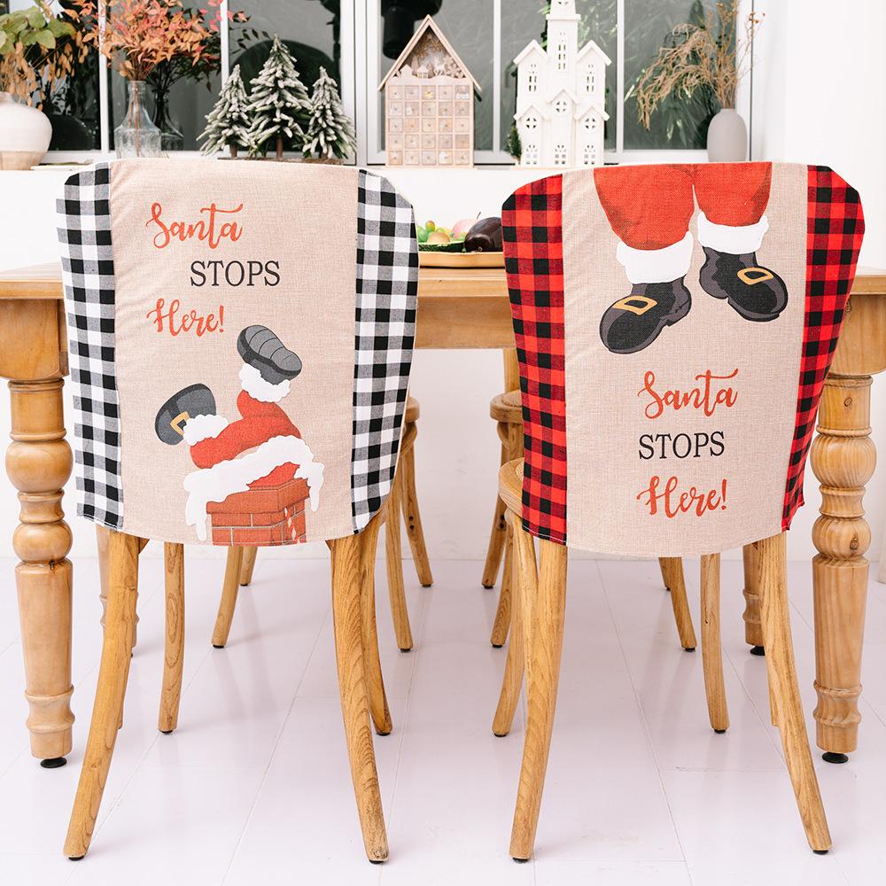 wholesale nueva cubierta de silla de celosía decoraciones navideñas  NHHB394506