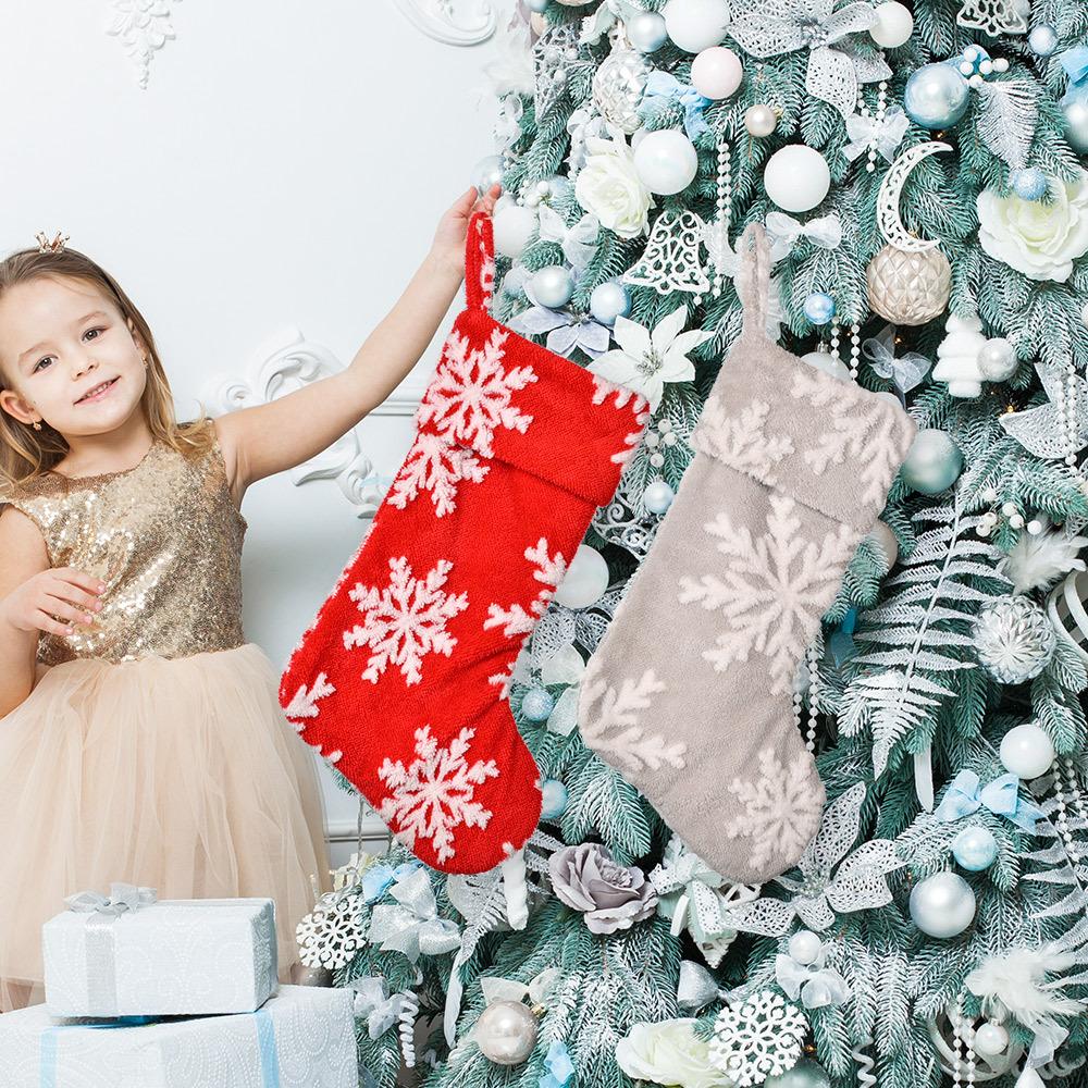 wholesale Nueva decoración navideña de felpa con copo de nieve con  NHHB394513