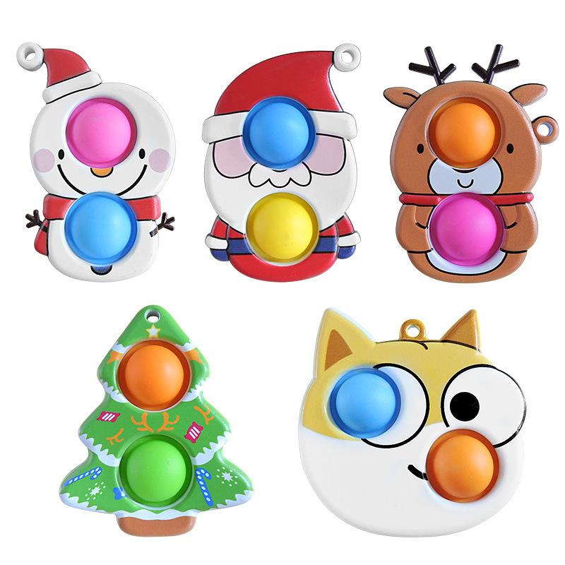Adornos navideños al por mayor juguetes de descompresión para niños con dedos  NHZHI394578