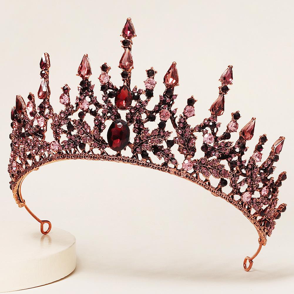 tocado nupcial de la corona de la aleación barroca retro al por mayor  NHHS404908