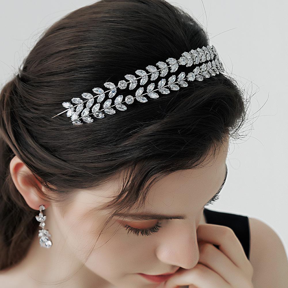 Diadema de hoja de diamante coreano al por mayor  NHHS404918