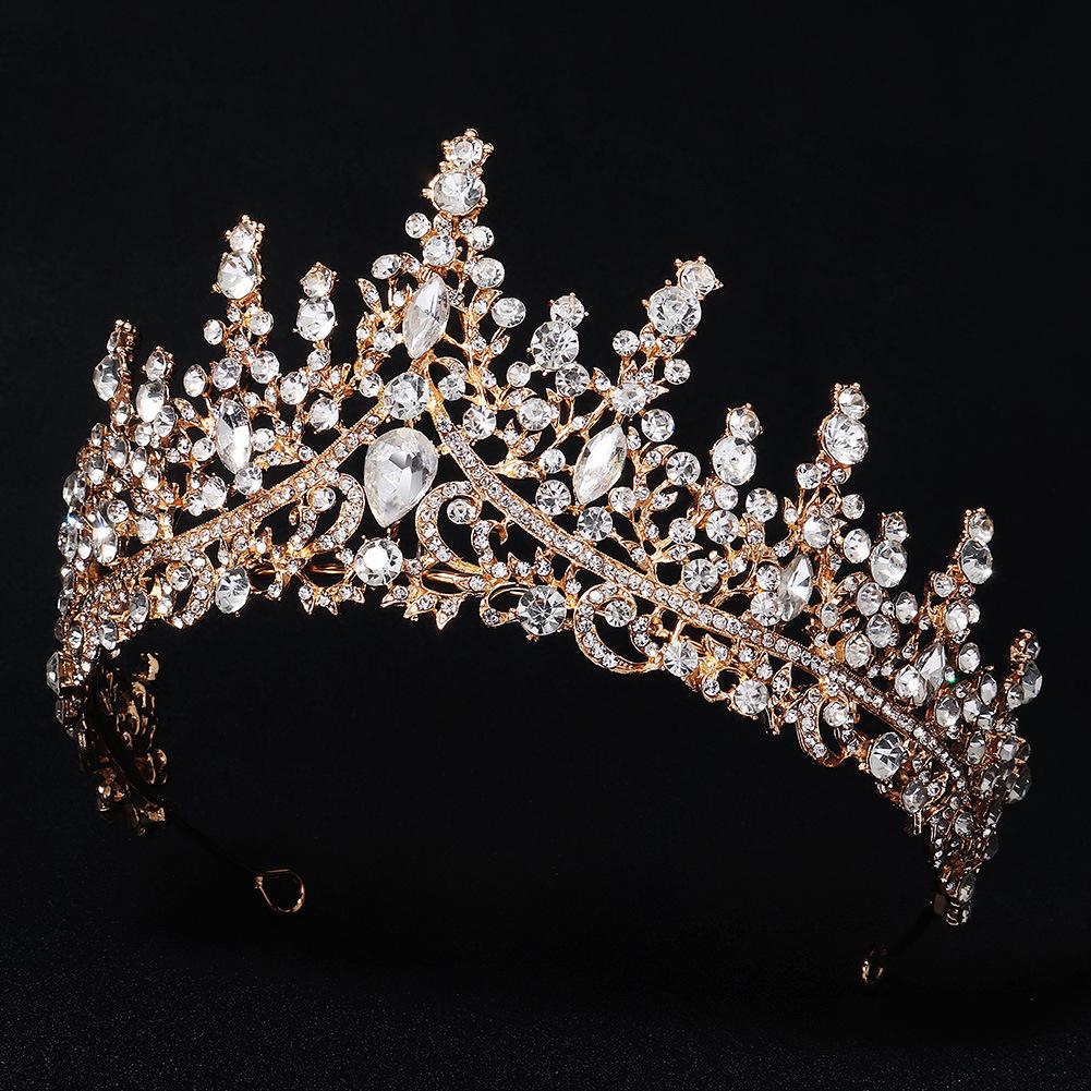 Nuevo vestido de novia retro de lujo con corona de aleación de diamantes al por mayor  NHHS404954