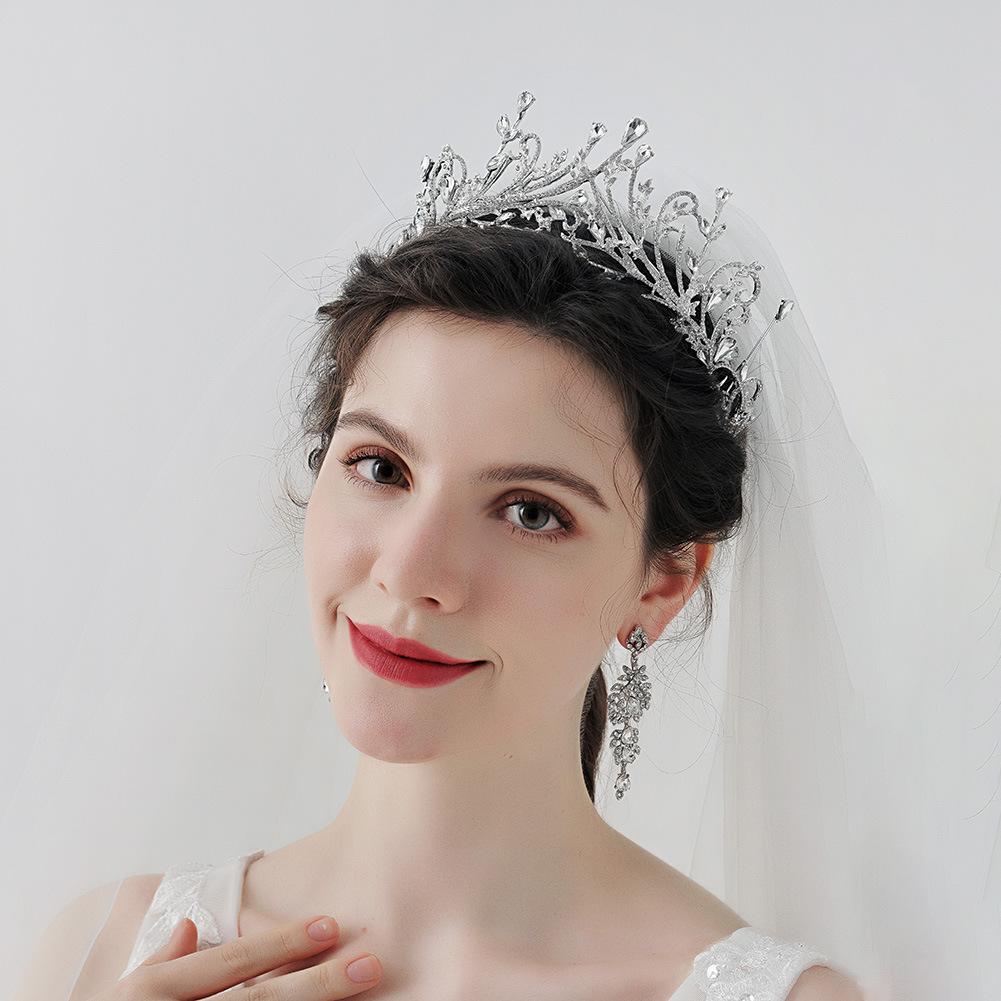 Joyería nupcial corona de diamantes de imitación de lujo al por mayor  NHHS404963