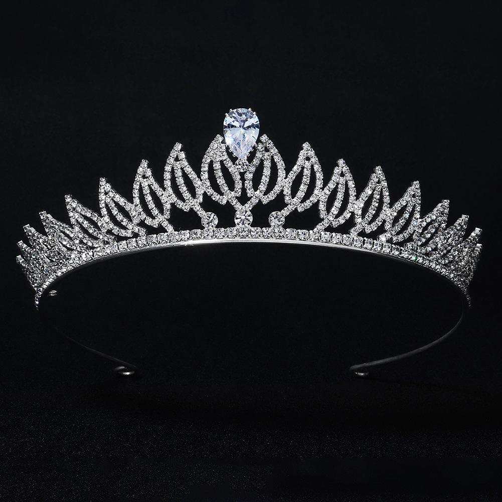 Nueva venda clásica de la boda del diamante de imitación del circón de la hoja al por mayor  NHHS404968