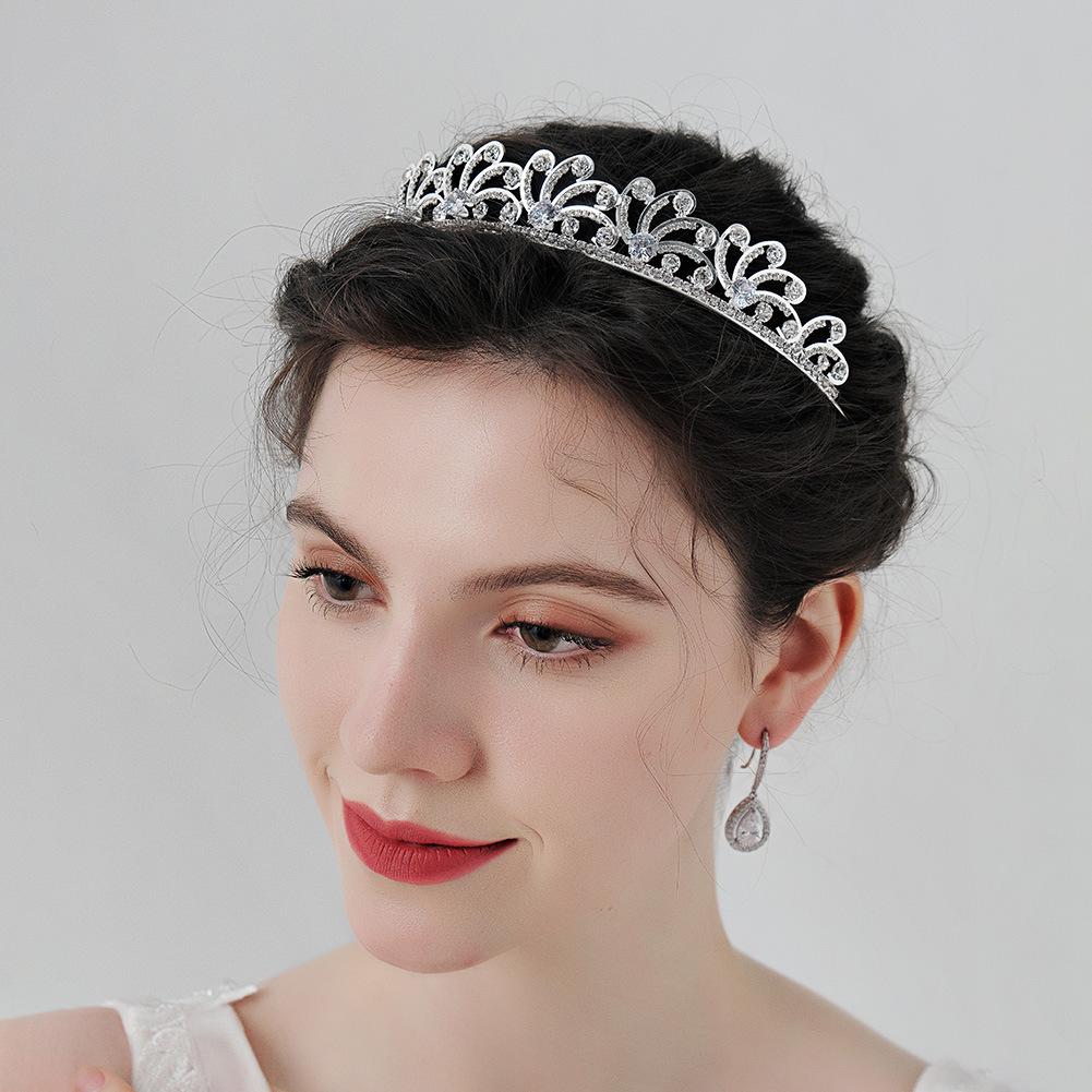 Nueva joyería nupcial de la boda del rhinestone del circón de lujo al por mayor  NHHS404970