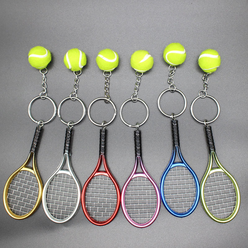 Simulación Raqueta de tenis Tenis Colgante Llavero deportivo al por mayor  NHYOU422314