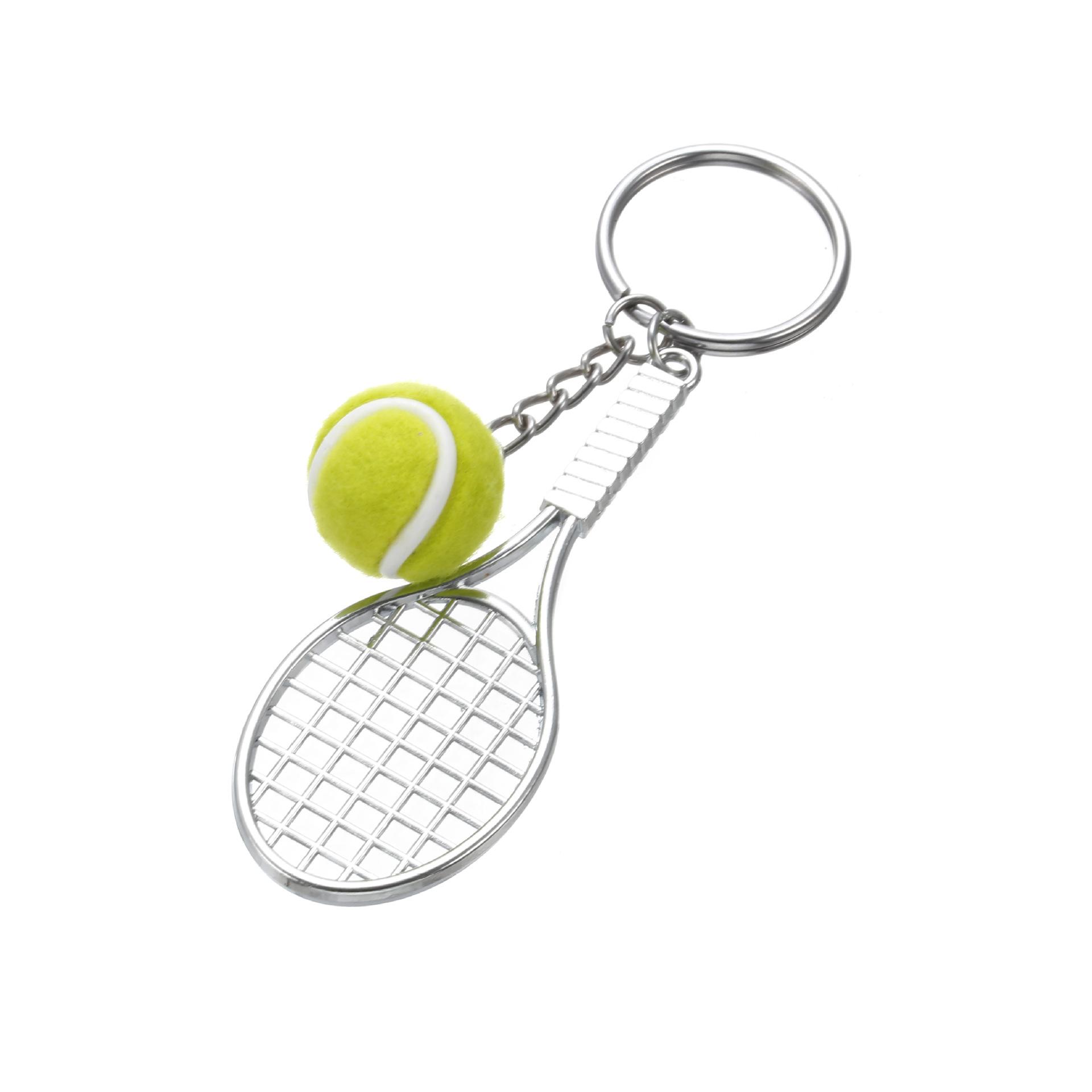 Simulación de tenis raqueta de tenis colgante llavero al por mayor  NHYOU422316