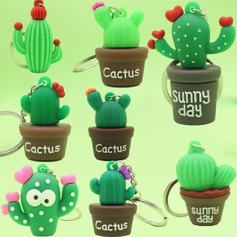 Llavero de plástico blando de cactus creativo al por mayor  NHYOU422341
