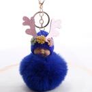 NHDI2025620-sapphire-8cm-hair-ball-(golden-chain-buckle)