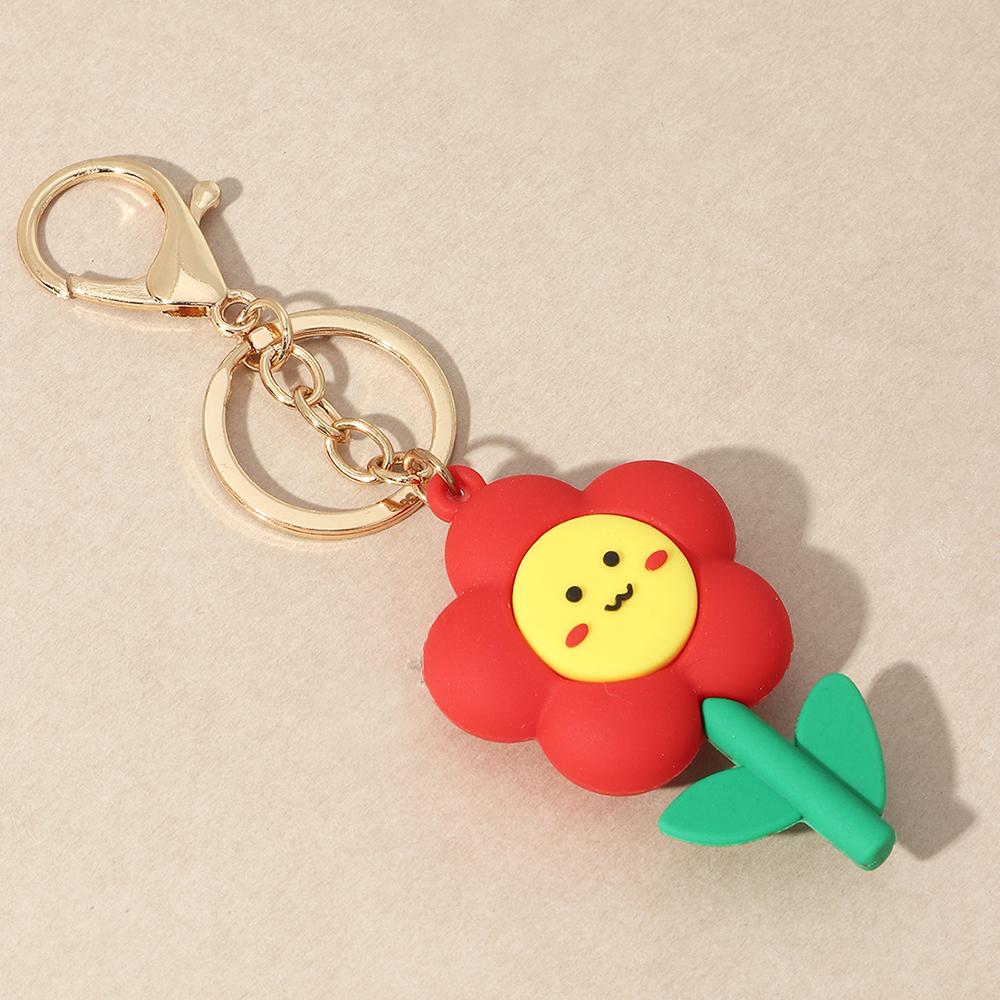 Smiley Flower Mushroom Keychain  al por mayor NHAU424420